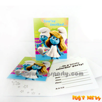 Smurfs Party Invitations