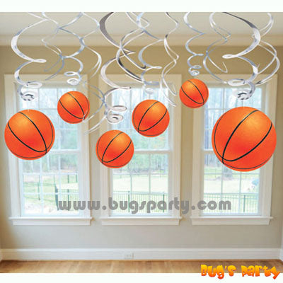 Basketball Party Swirls