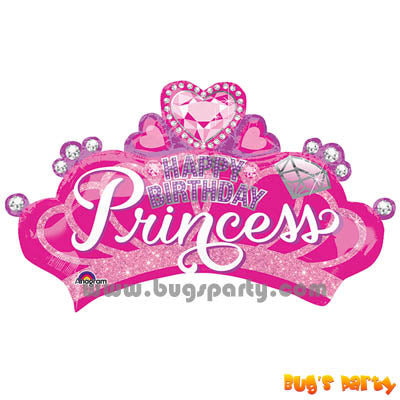 Balloon Birthday Princess Crown