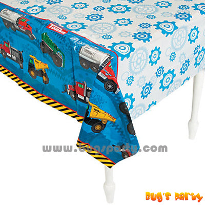 Construction Tonka Tablecover