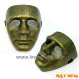 Full Face Gold Color Plastic Mask