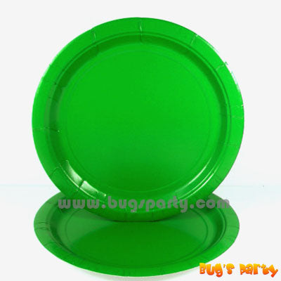 Festive Green color paper Plates