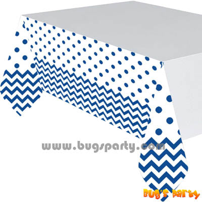 Blue Chevron Table Cover