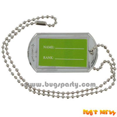Camouflage Dog Tags party favors