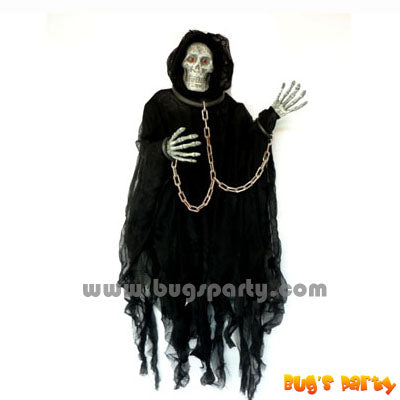 Halloween prop, 36in tall Lite Up hanging reaper