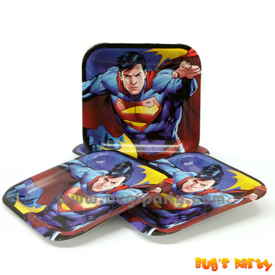 Superman 7in Sq Plates