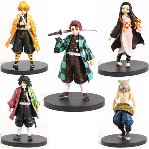 Anime Demon Slayer Figure Kamado Tanjirou Nezuko Action Figures PVC Model Toys Zenitsu Figurine Inosuke Kimetsu No Yaiba Figura - ZSHOPIT
