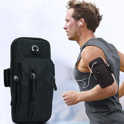 Running Men Women Armbands for Phone Money Keys Outdoor Sports Arm Package Bag with Headset Hole - ZSHOPIT