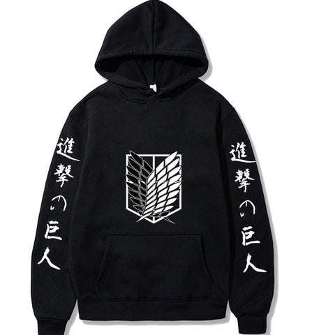 Attack on Titan Hoodie Fashion Pullovers Tops - ZSHOPIT