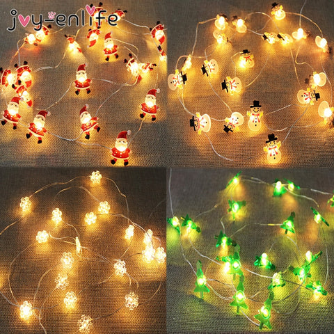 Santa Claus LED Garland String Lights Merry Christmas Decoration for Home Xmas Tree Ornament l New Year - ZSHOPIT