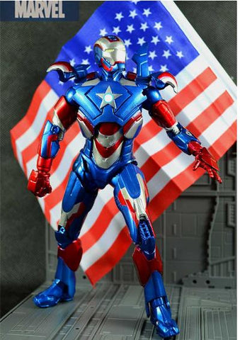 Iron Man 3 Iron Patriot Action Figure Superhero - ZSHOPIT