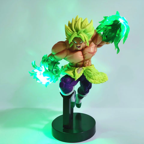 Dragon Ball Z SuperBroly Led Effect Action Figures Toys Anime Dragon Ball Super Broly Led Power Scene Figurine Toy DBZ - ZSHOPIT