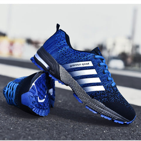 Fashion Men's Shoes Portable Breathable Running Shoes Large Size Sneakers Comfortable Walking Jogging - ZSHOPIT