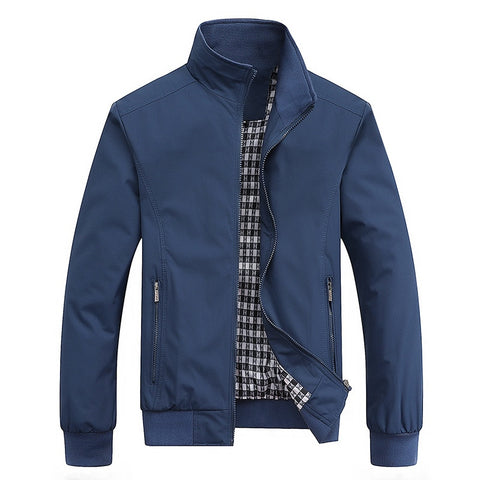 Spring Autumn Fashion Slim Bomber Jacket Men Overcoat - ZSHOPIT