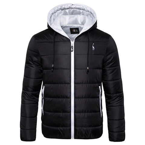 Waterproof Winter Jacket Men Hoodied Parka Men Warm Winter Coat Men Thicken Zipper - ZSHOPIT