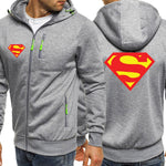 Jackets Zipper Superman Coat Long Sleeve Sportswear Hoody - ZSHOPIT