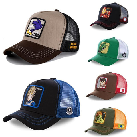 Dragon Ball Marvel Street Fighter Cotton Baseball Cap - ZSHOPIT