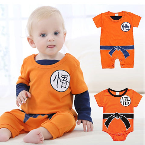 Dragon Ball Z Super Baby Boys Clothes SON GOKU  Jumpsuit Halloween Christmas Costumes - ZSHOPIT