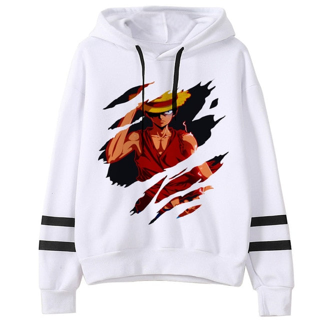 One Piece Harajuku Hoodie for Women Funny Sweatshirt - ZSHOPIT