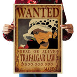 One Piece Wanted posters Home Decor Wall Stickers Vintage Paper 51.5x36cm - ZSHOPIT