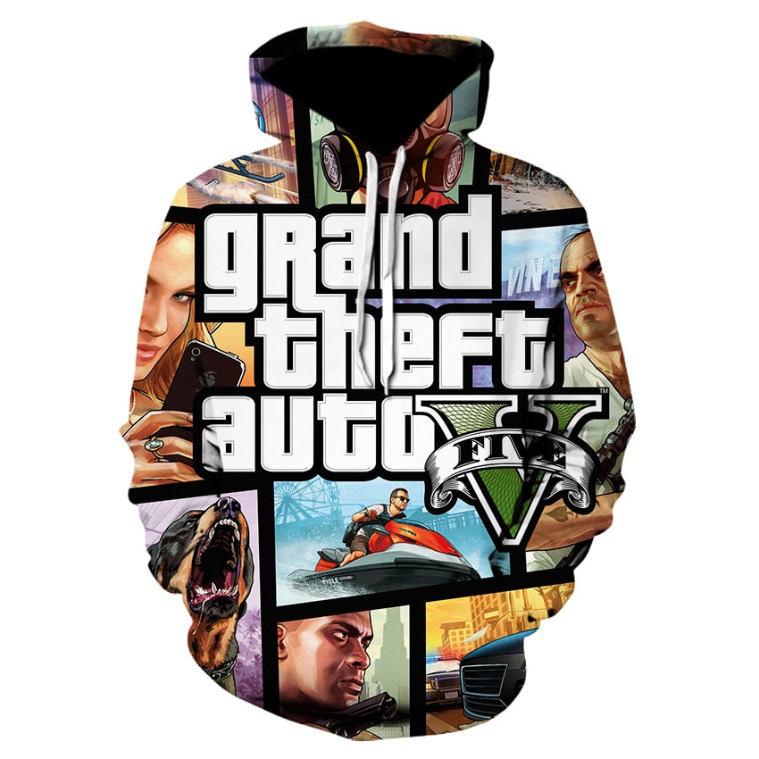 GTA 5 3d Hoodies sweatshirts Fashion Streetwear Hip Hop - ZSHOPIT