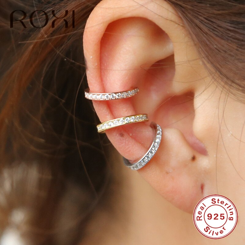 ROXI 925 Sterling Silver Small Ear Non Pierced Earrings for Women - ZSHOPIT