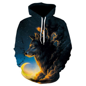 Wolf Printed Hoodies - Men 3d Hoodies Brand Sweatshirts Fashion - ZSHOPIT