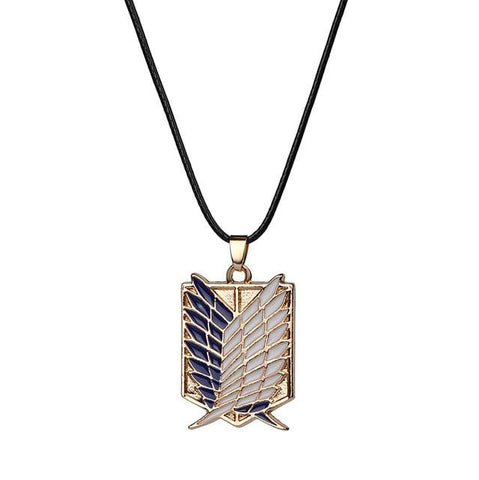 Japanese Anime Attack on Titan Necklace Wings of Liberty Shingeki No Kyojin - ZSHOPIT