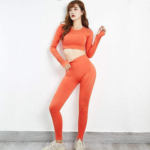 2 Pieces Yoga Sets  Fitness Leggings Yoga Pants Workout Clothes For Women - ZSHOPIT