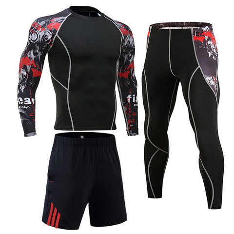 Men's Compression Sportswear Suits Gym - Workout Jogging Sports - ZSHOPIT