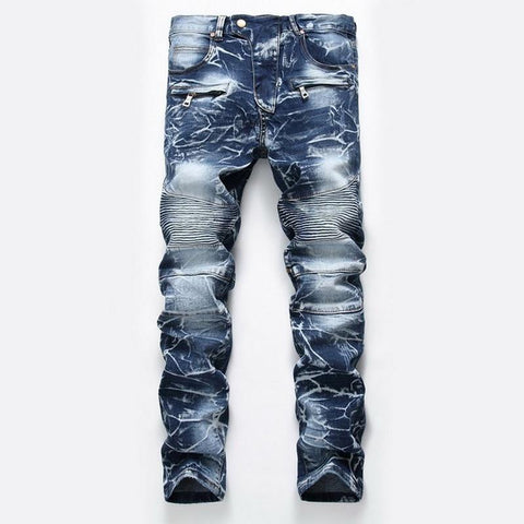 Denim Designer For Men's Bike Moto Jeans - ZSHOPIT