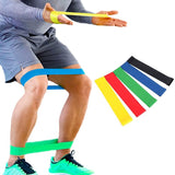 5 Levels 50cm Elastic Sports Resistance Bands Training Yoga Fitness Equipment Expander - ZSHOPIT