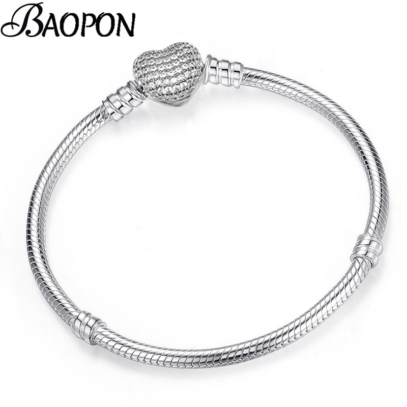 High Quality Authentic Silver Bracelet for Women DIY Jewelry Making - ZSHOPIT