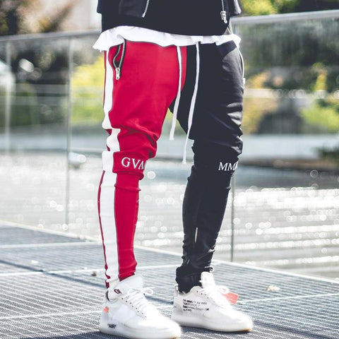 Men Patchwork Gyms Pants Men Fitness Shopigear - ZSHOPIT