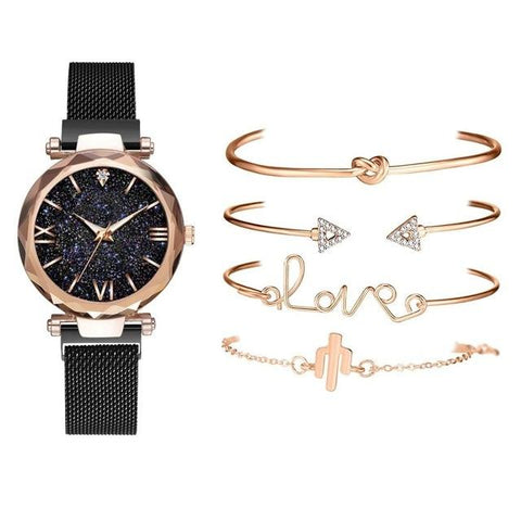 Stardust Watch Luxury Women Watches Magnetic Starry Sky - ZSHOPIT