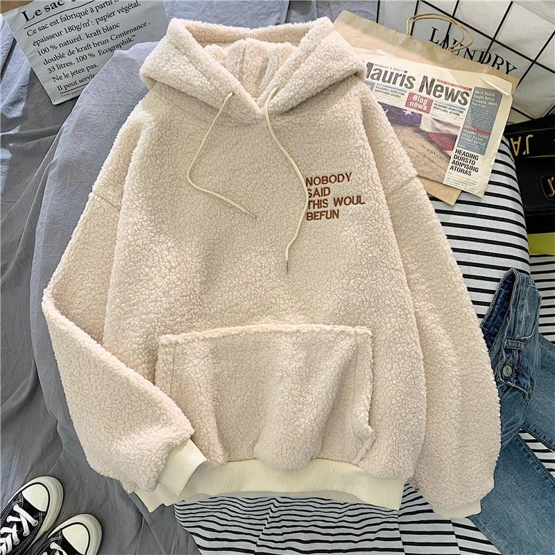 Autumn Winter Sweet Hooded Harajuku style for women - ZSHOPIT