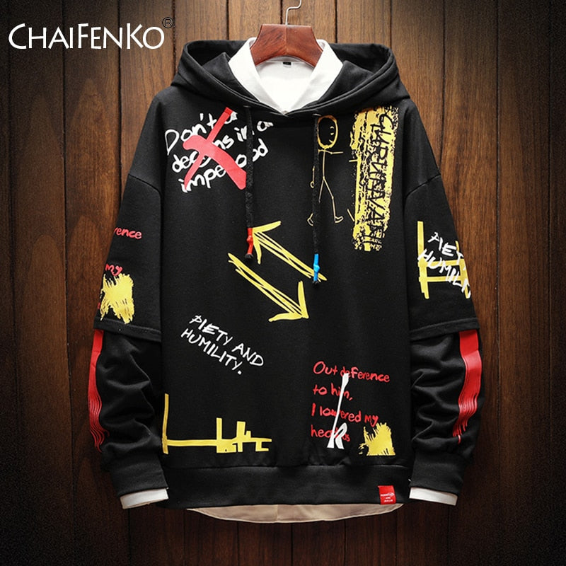Fashion Vintage Artistic Men's Sweatshirt Hoodies - ZSHOPIT