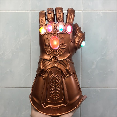 Thanos Gauntlet Gloves Endgame Realm Cosplay Gloves Led Light Halloween Kids Gift Prop - ZSHOPIT