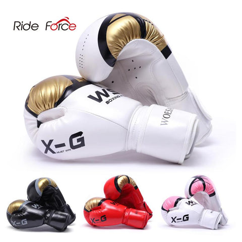 Kick Boxing Gloves for Men Women PU Karate Muay Thai BoxFree Fight MMA - ZSHOPIT