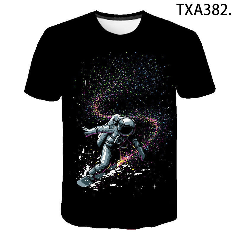 Science Fiction Astronaut 3D T shirt Tee - ZSHOPIT