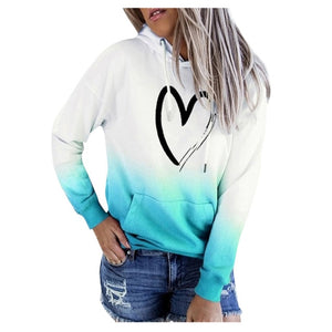 Women Hoodies Sweatshirts Love Symbol - ZSHOPIT