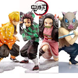 Demon Slayer Kimetsu no Yaiba figure Kamado Tanjirou Action Figure Agatsuma Zenitsu Nezuko Warrior PVC Model Toys Anime - ZSHOPIT