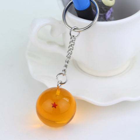 Dragon Ball Z Keychains Orange Pvc 1-7stars - ZSHOPIT