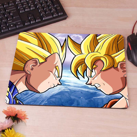 Goku Vs Vegeta Wallpaper Computer Gaming Mouse Pad - ZSHOPIT