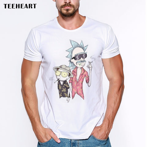 Ricky And Morty Design T Shirt Funny Printed Hipster Style - ZSHOPIT