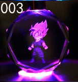Dragon Ball Z Crystal Keychain Z Super Saiyajin colors LED Flash Light - ZSHOPIT