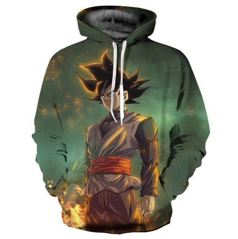 Black Goku Hoodie sweatshirt Dragon Ball Super - ZSHOPIT