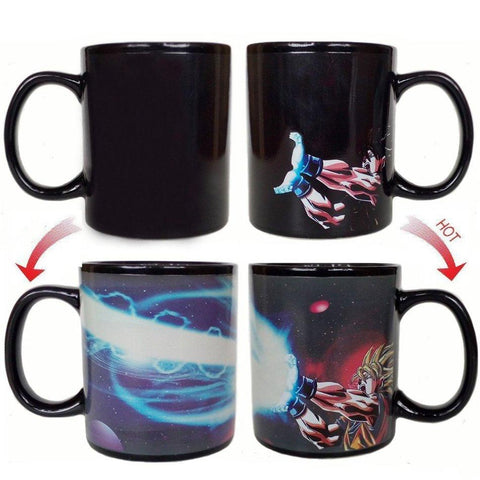 DBZ SON GOKU CREATIVE KAMEHAMEHA MUG CHANGING FOR TEA MILK COFFEE - ZSHOPIT