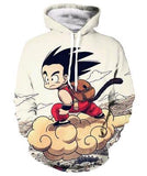 Dragon Ball Z Kid Goku and Master Roshi 3d Hoody - ZSHOPIT