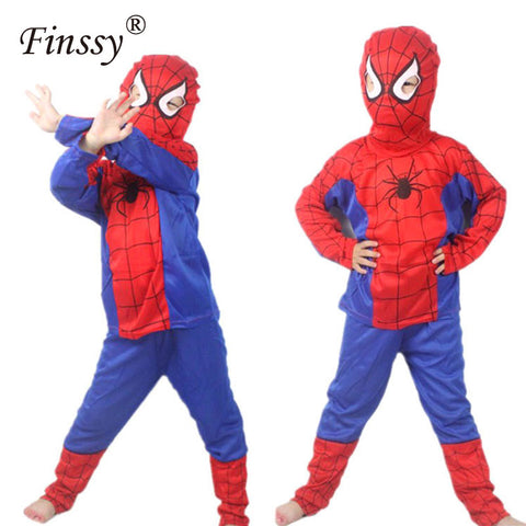 Red Spiderman Cosplay Costume Clothing for Kids